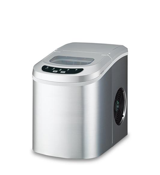 Máquina para hacer hielo HZB-12 Cubierta de acero inoxidable plateada